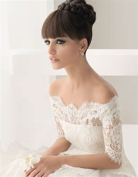 bridal hairstyles with a fringe wedding hair with fringe beautiful dress pinterest