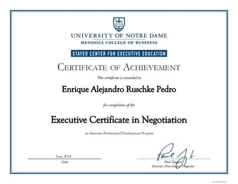 Notre Dame Mba Application Powerpoint by Of Notre Dame Executive Certificate In