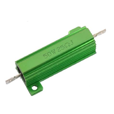 power resistor tolerance uxcell a12050500ux0030 aluminum 50w 25 ohm chassis mounted wirewound resistor