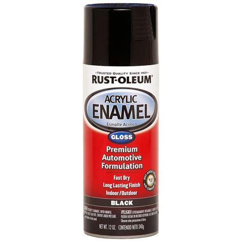 Premium Kitchen Faucets by Rust Oleum Automotive 12 Oz Black Gloss Acrylic Enamel