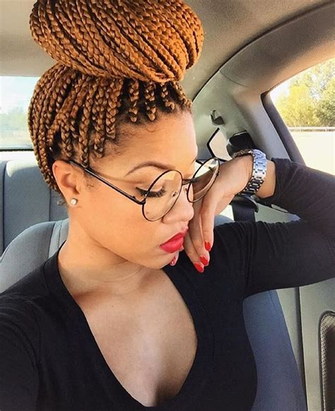 medium box braids with color hairspiration these boxbraids on misscarradine