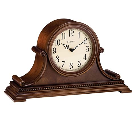 bulova small desk clock decor astonishing bulova mantel clock for home decoration
