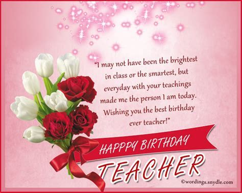 Birthday Wishes To Teacher   Wishes, Greetings, Pictures