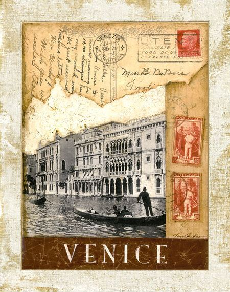 imagenes vintage italia items similar to venice postmark the grand canal 11 quot x14