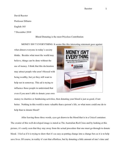 How To Make An Advertisement On Paper - rhetorical analysis revised