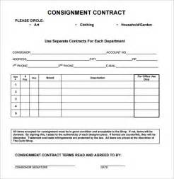 consignment contract template 17 download free documents
