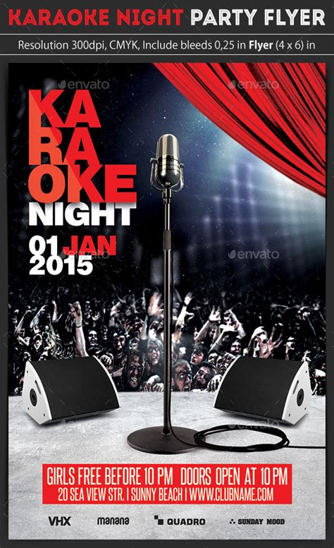 flyer template karaoke night party karaoke night party flyer by grapulo graphicriver