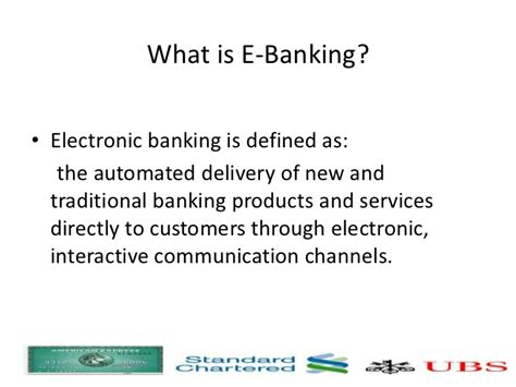 what is banker electronic banking presentation