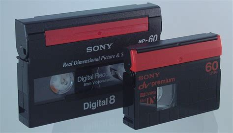 mini dv digital cassette minidv and digital8 museum of obsolete media