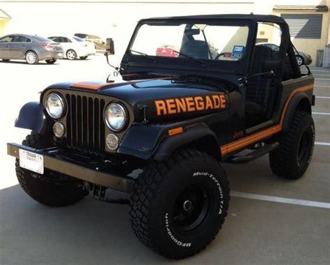 orange jeep cj 1986 cj 7 renegade black and orange transport