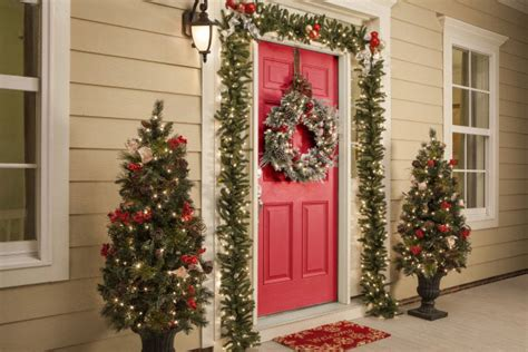 christmas decorations front door ideas home design