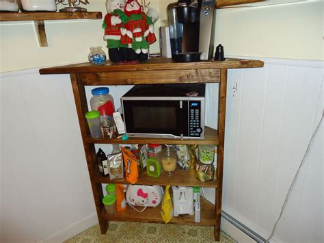 Corner Shelf For Microwave by Custom Rustic Kitchen Corner Shelf And Microwave Stand By