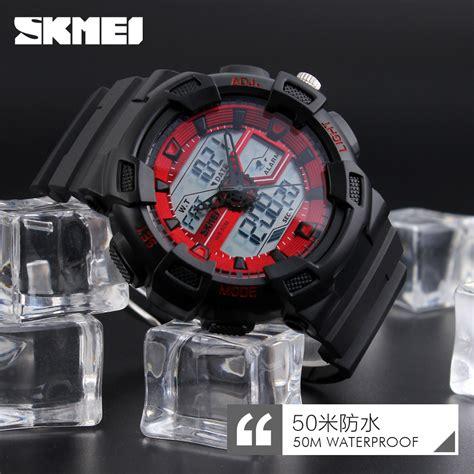 Jam Tangan Pria Sport Kw Ripcurl Casual skmei jam tangan digital analog pria 1189 black jakartanotebook
