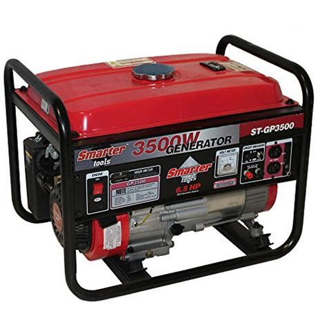 smarter tools gasoline powered portable generator 3500 w