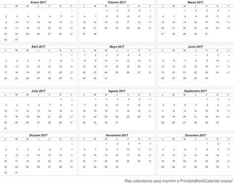Calendario 2017 Para Calendario 2017 Calendarios Para Imprimir