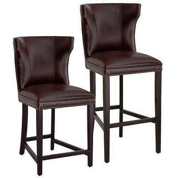 Burgundy Leather Bar Stools by Porter Leather Bar Counter Stool Ivory West Elm