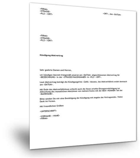 Vorlage Wohnungskündigung Im Todesfall K 252 Ndigung Gewerbemietvertrag Muster Musterix