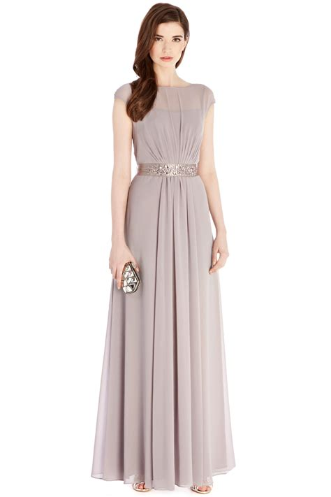 Suki Dress Maxi Bonita Navy grey bridesmaid dress with embellishment greys lori