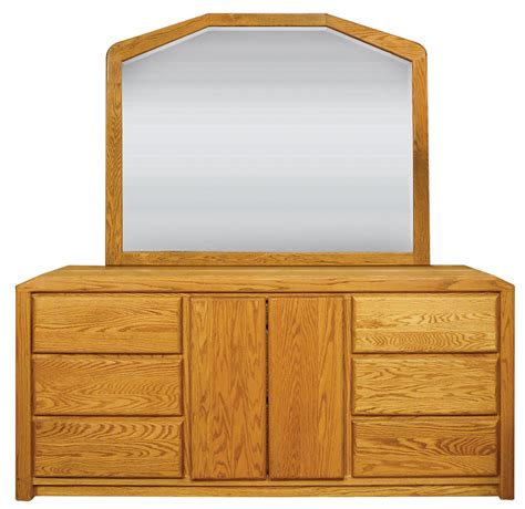 waterbed marathon oak large dresser with landscape mirror
