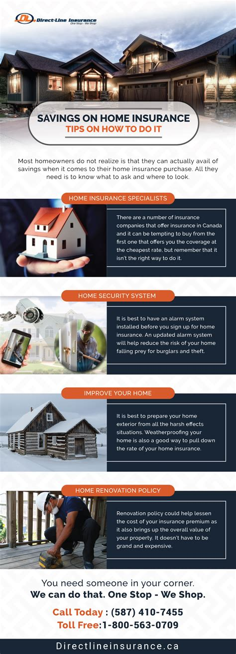 direct line house contents insurance infographic savings on home insurance tips on how to do it