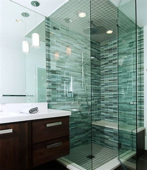 bathroom glass tile designs 71 cool green bathroom design ideas digsdigs