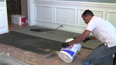 How to install backer board/durock for floor tile   YouTube