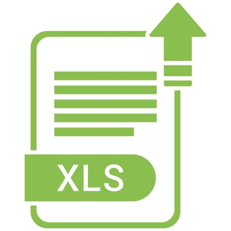 extension file format paper xls icon