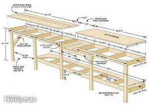free work bench plans modular workbench the family handyman
