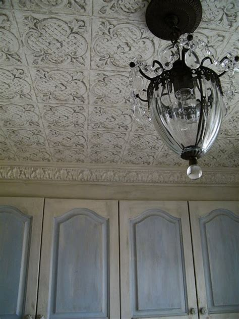 Tin Ceiling Wallpaper maison decor tin sted wallpaper