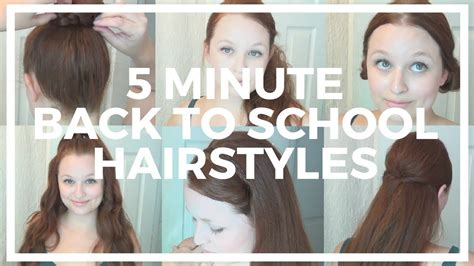 5 minute back to school hairstyles for hair with herstyler