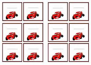 Free Printable Cars Themed Name Tags Themed Name Tags Free Printables Pinterest Name Auto Labels Templates