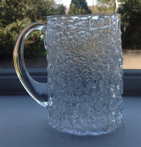 whitefriars glass glass pottery glass whitefriars glacier textured glass tankard by bostonretrovintage 163 12 99 retro glass