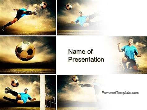 Soccer Collage Powerpoint Template By Poweredtemplate Com Powerpoint Photo Collage Template