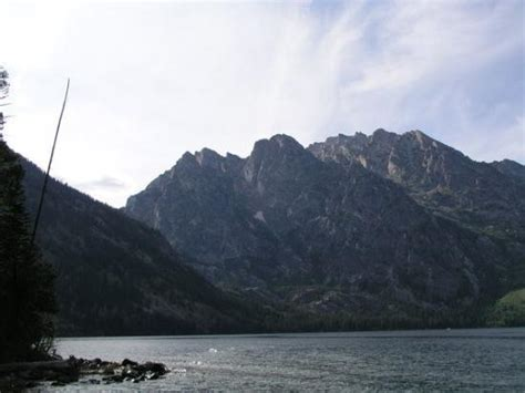 jenny lake boat shuttle middle of jenny lake from shuttle boat picture of