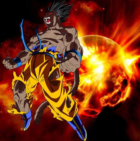 imagenes de goku oozaru goku oozaru explosion by elitesaiyanwarrior on deviantart