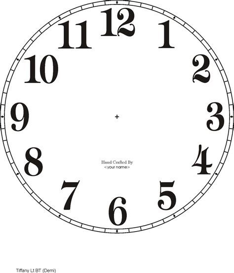 clockface template free clock dials