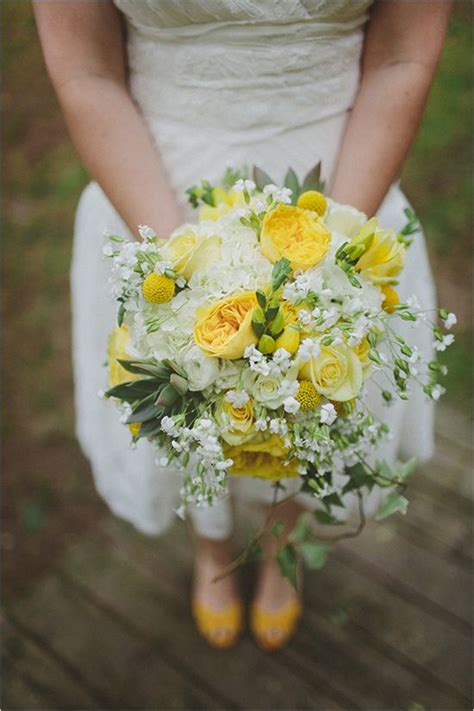 gray and yellow wedding at the barn at fallingwater wedding bouquets yellow wedding flowers