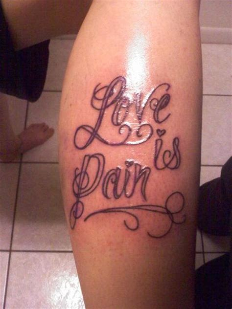 pain is love tattoo is