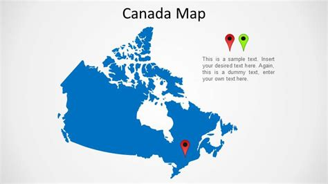 us and canada map for powerpoint canada map slidemodel