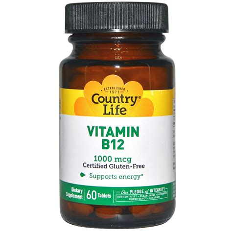 Vitamin B12 Country Vitamin B12 1000 Mcg 60 Tablets Iherb