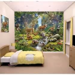 Childrens Wall Stickers Murals papier peint enfant fresque murale d 233 corative animaux de