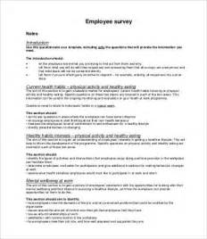 Printable Survey Template by Printable Survey Template 10 Free Word Pdf Documents