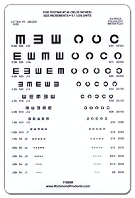 printable landolt c eye chart richmond landolt c and tumbling e near vision card 40cm
