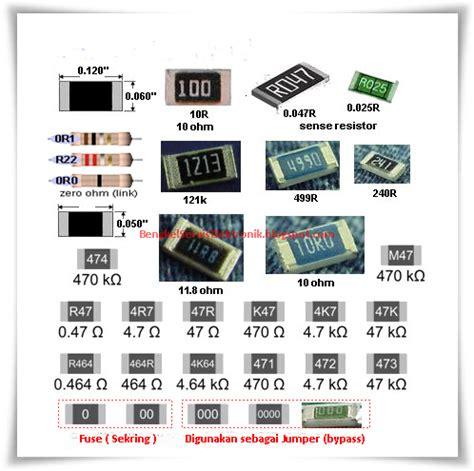 gambar resistor smd bengkel service elektronik komponen elektronika aktif dan pasif