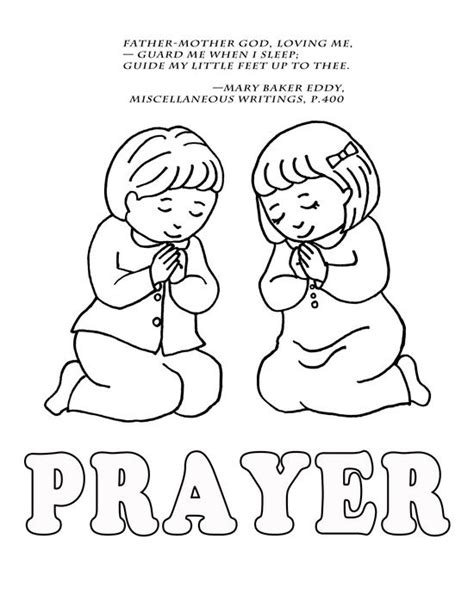 Coloring Pages For Toddlers On Prayer | children praying coloring page coloring home