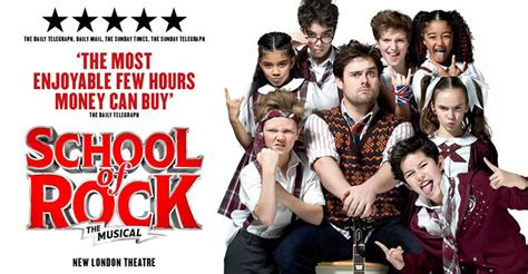 school house rock musical school of rock the musical new london theatre