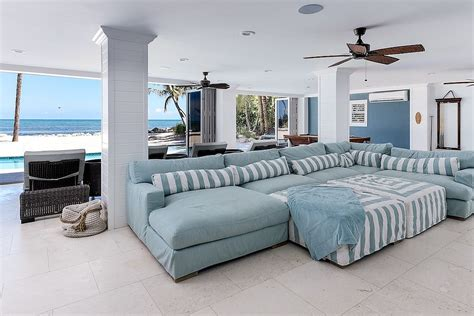 beach style sofa 20 beach style home theaters and media rooms that wow