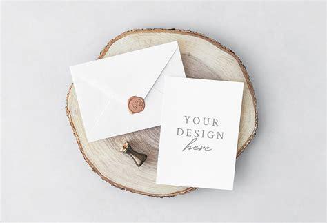 Wedding Invitation Card Mockup by Invitation Card With Envelope Mockup Mockupworld