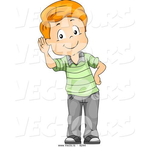 layout animation listener kid listening clipart 27