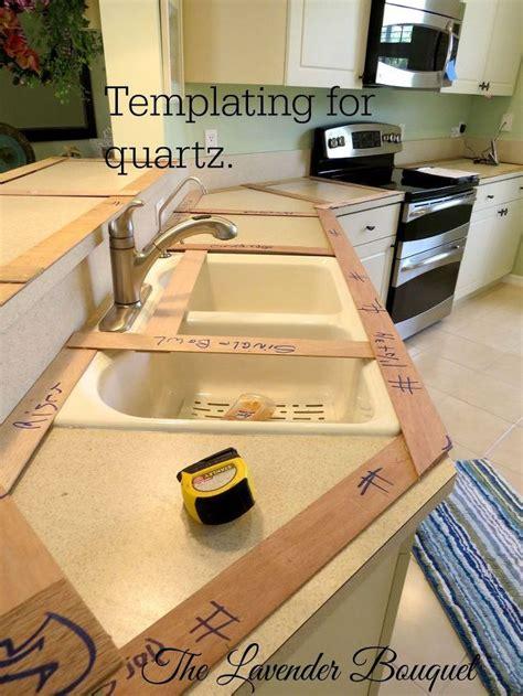 Selecting And Installing Quartz Countertops Hometalk Countertop Template Process